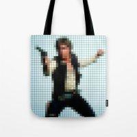 Han With Gun Pixels Tote Bag