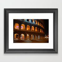 Colosseum - Rome, Italy Framed Art Print