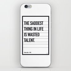 My Bronx Tale Movie Quote poster iPhone & iPod Skin