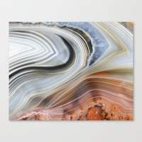 Marble Lined Canvas Print