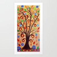 Abstract Tree 4 Art Print