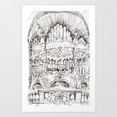 a superfluous organ Art Print