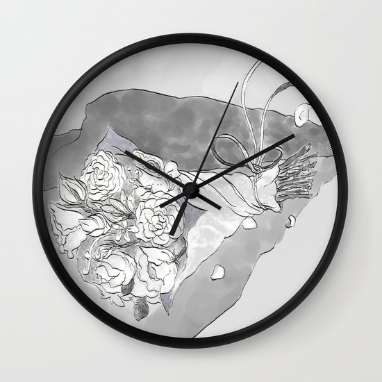 """White Women"" by Virginia McCarthy Wall Clock"