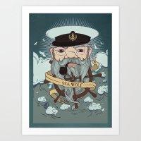 Sea wolf 2 Art Print