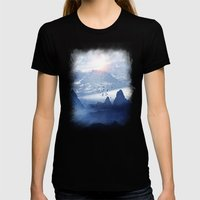 Winter. Melody... Womens Fitted Tee Black SMALL
