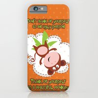 monkey iPhone & iPod Cases featuring Monkey by Arevik Martirosyan