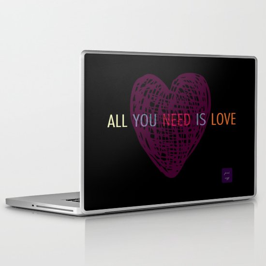all you need is love Laptop & iPad Skin