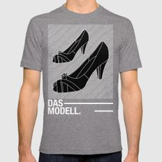 Das modell Mens Fitted Tee Tri-Grey SMALL
