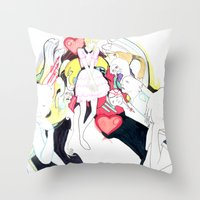 Whe love Fashion 2 Throw Pillow
