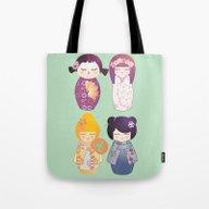 Kokeshis Four Seasons Tote Bag