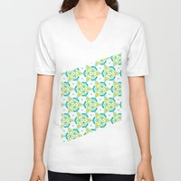 Yellow&blue Unisex V-Neck