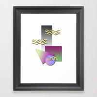 Kool Shaps Framed Art Print