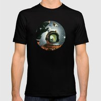 Portal Mens Fitted Tee Black SMALL