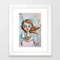 The Owl Whisperer Framed Art Print