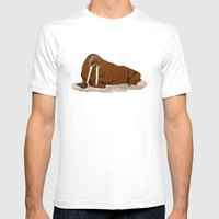 Pacific Walrus Mens Fitted Tee White SMALL