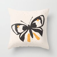 Gungry Butterflies Throw Pillow