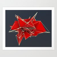 abstract polygons v2 Art Print