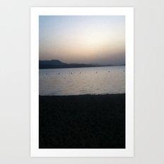 lake dusk Art Print