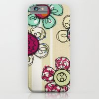 iPhone & iPod Case featuring Embroidered Flower Illustration by Lizzie Searle