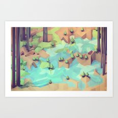Campground Art Print