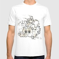 Sugar Monsters Mens Fitted Tee White SMALL