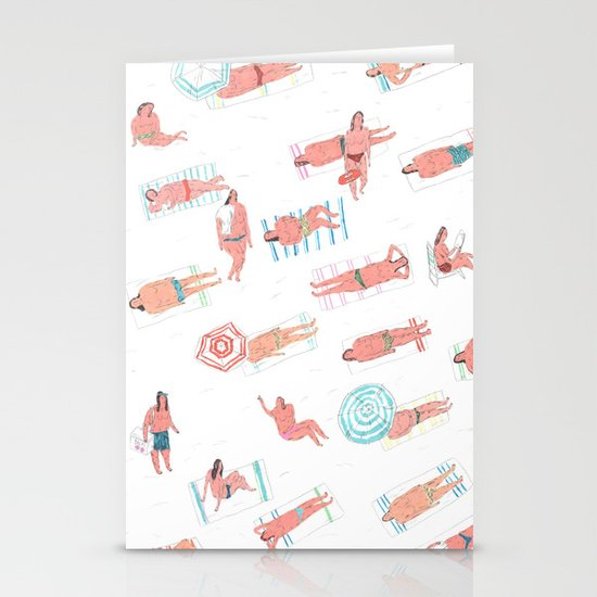 top less beach Stationery Card