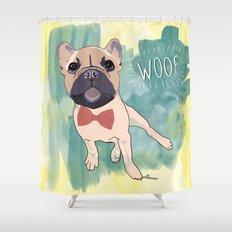 Frenchie Art. Bruno. Shower Curtain
