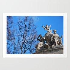 Statues Art Print