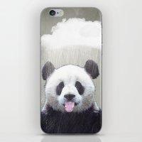 Panda Rain iPhone & iPod Skin