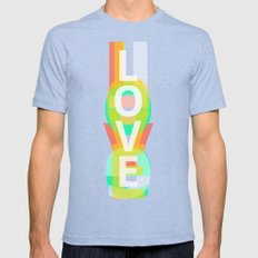 Love Mens Fitted Tee Tri-Blue SMALL
