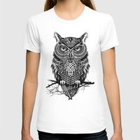 owl T-shirts featuring Warrior Owl 2 by Rachel Caldwell