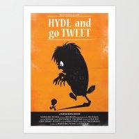 Hyde and go Tweet Art Print