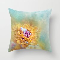 VARIE SQUARE - Floral An… Throw Pillow