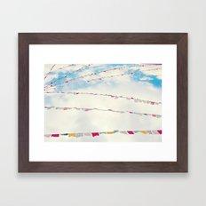 prayer flags no. 1 Framed Art Print
