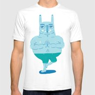 Zen Rabbit Mens Fitted Tee White SMALL