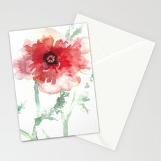 Poppy Watercolor Stationery Cards