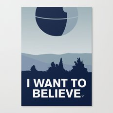 My I want to believe minimal poster-deathstar Canvas Print