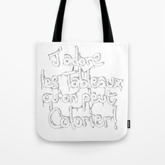 J'adore les ... qu'on peut colorier ! Tote Bag