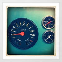 DASHBOARD Art Print
