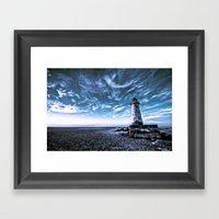 Point Of Ayr Lighthouse Framed Art Print