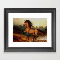 Prairie dancer Framed Art Print