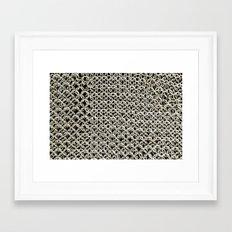 Silver Net Framed Art Print