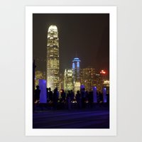 Hong Kong Nightscape Art Print