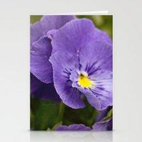 Purple Ruffles Stationery Cards