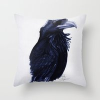 .Raven Throw Pillow