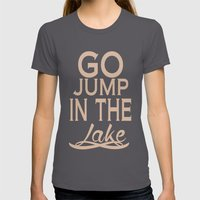 Go Jump Poster 01 Womens Fitted Tee Asphalt SMALL