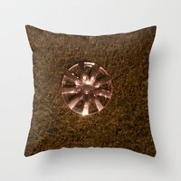 Wheel Lay On The Lawn Throw Pillow