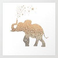 elephant Art Prints featuring ELEPHANT by Monika Strigel