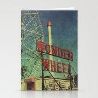 Wonder Wheel at Coney Island luna park, New York,  scaned sx-70 Polaroid Stationery Cards