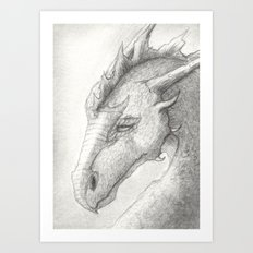 Dragon, Eyes Closed Art Print